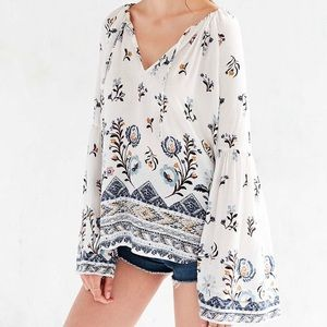 UO Kimchi Blue Aurore Bell Sleeve Top